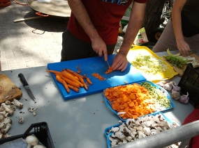 Tallant les verduretes